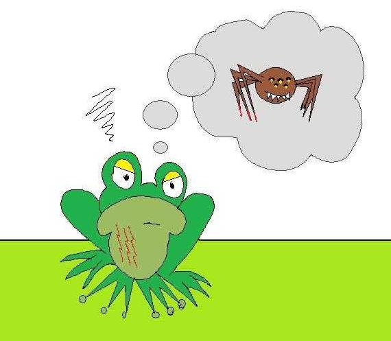 Resultado de imagem para a aranha arranha a rã. a rã arranha a aranha. nem a aranha arranha a rã. nem a rã arranha a aranha